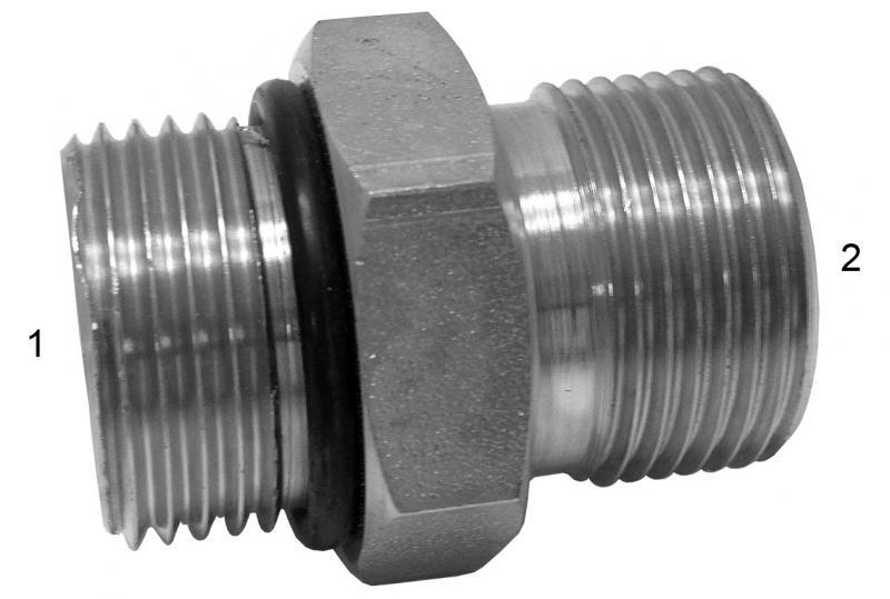 Metric Adapters -  - Male SAE O-Ring Boss to Male BSPP