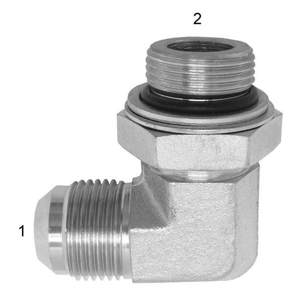 Metric Adapters -  - Male JIC to Male British Parallel 90° Elbow