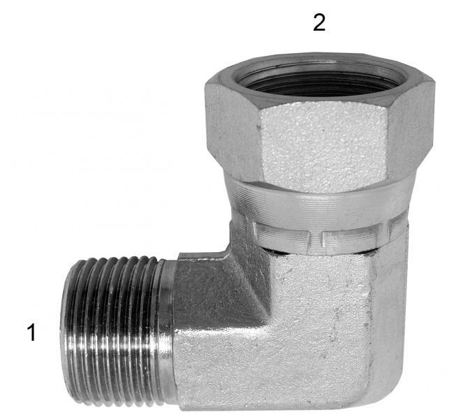 Metric Adapters -  - Male BSPP to Female BSPP 90° Swivel
