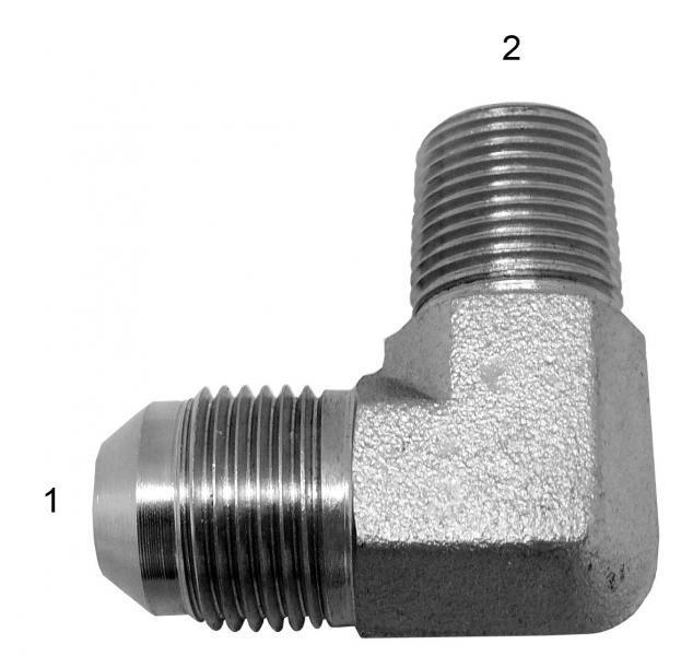 Metric Adapters -  - Male JIC to Male BSPT 90°