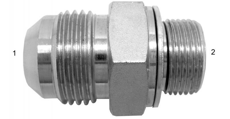 Metric Adapters -  - Male JIC to Male Metric with Washer and O-Ring