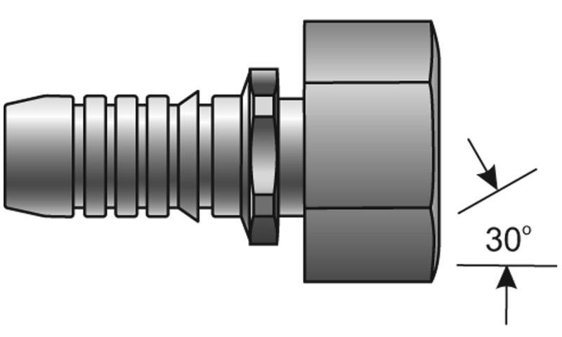 GSP Couplings - Gates - Female British Standard Parallel Pipe O-Ring Swivel